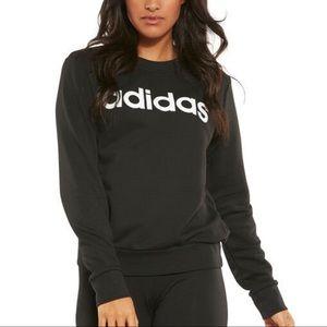 Adidas Originals Spellout Logo Black Crew Pullover